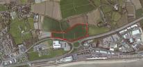 Image: Aerial view of proposed Penzance Heliport site – Credit: Google Maps